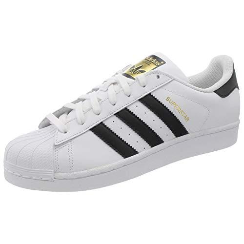 adidas Unisex-Erwachsene Superstar Low-Top, Weiß (Ftwr White/Core Black/Ftwr White), 43 1/3 EU