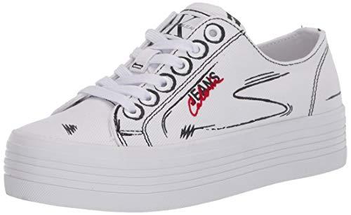 Calvin Klein Jeans Zaffiro B4R0887 Schwarz Casual Damen Sneaker, Weiß - Bianco - Größe: 36 EU