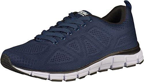 Boras Fashion Sports Unisex Sneaker Basic blau/weiss auch in Übergrößen 5203-0051