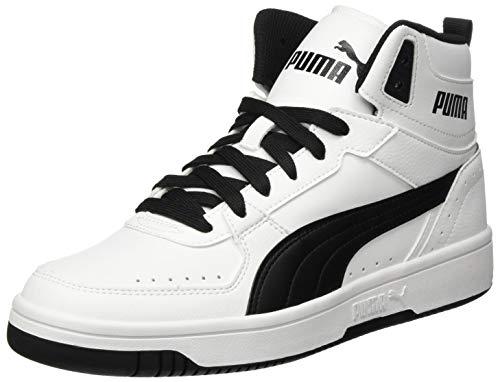 PUMA Unisex Rebound Joy Sneaker, White Black, 41 EU