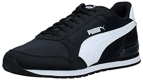 PUMA Unisex ST Runner v2 NL Turnschuh, Black White, 44 EU