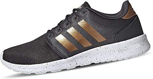 adidas Damen QT Racer Sneaker, Grey/Tactile Gold Metallic/Footwear White, 39 1/3 EU