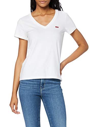 Levi's Damen Perfect Vneck T-Shirt, White (White + 0002), Medium