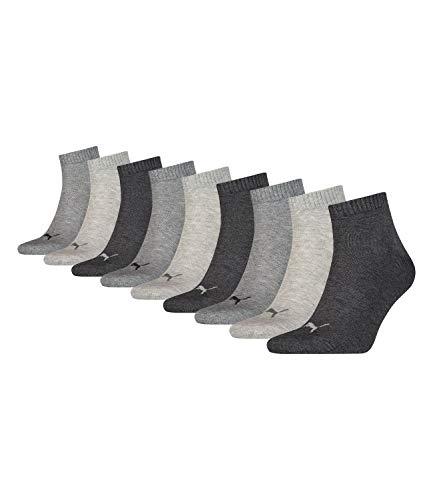 Puma Socken Quarter Sneakers Damen, Herren 9er Pack (Grau Mix, 43-46 (UK 9-11))
