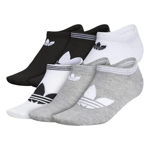 adidas Originals Trefoil Superlite No Show Socken für Damen, 6 Paar, Damen, No Show Socke, EV7708, Heather Grey/White/Black, M