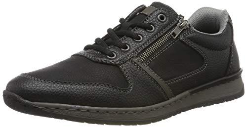 Rieker Herren B5124-00 Sneaker, Schwarz (Schwarz/Schwarz/Graphit 00), 42 EU