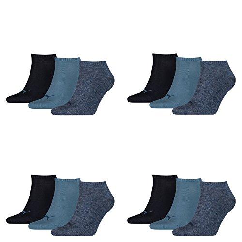 PUMA Unisex Sneakers Socken Sportsocken 12er Pack denim blue 43/46
