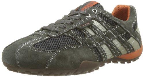Geox Herren Uomo Snake K Sneaker, Grau (DK GREY/OFF WHITEC1300), 46 EU