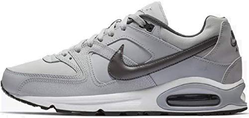 Nike Herren AIR MAX Command Leather Laufschuhe, Grau (Wolf Grey/MTLC Dark Grey/Black/White 012), 43 EU