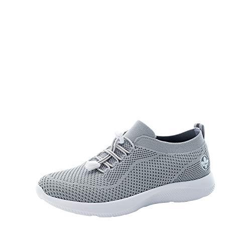 Rieker Damen Low-Top Sneaker N9969, Frauen Halbschuhe,lose Einlage,Halbschuhe,straßenschuhe,Freizeit,sportlich,weiblich,Lady,grau (40),40 EU / 6.5 EU