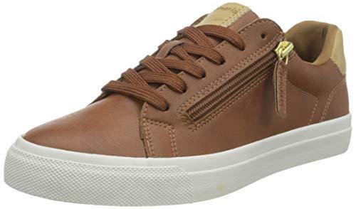 Tamaris Damen 1-1-23610-26 Sneaker, Sneaker, cognac, 39 EU