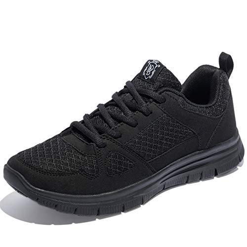 NewDenBer NDB Herren Leichtes Sneaker Sportschuhe Laufschuhe (47 EU, Schwarz (All Black))