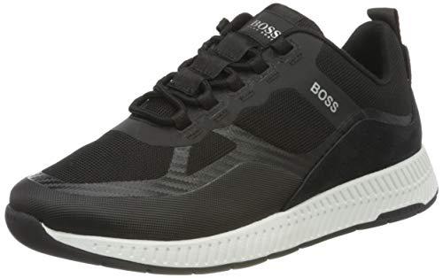 BOSS Herren Titanium Runn Hybrid-Sneakers mit Veloursleder-Overlays Größe 39
