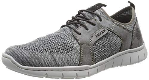 Rieker Herren B8775-42 Slip On Sneaker, Grau (Grau/Asphalt 42), EU