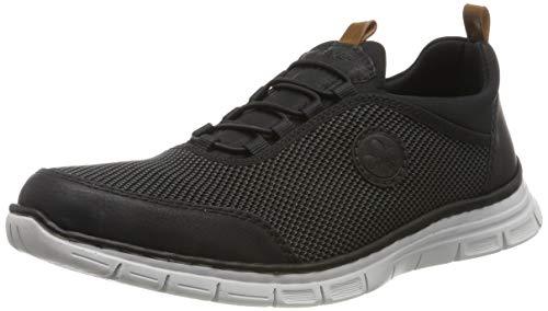 Rieker Herren B4891-00 Sneaker, Schwarz (Schwarz/Grau-Schwarz/Amaretto/Schwarz 00), 42 EU