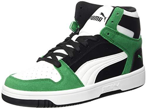 PUMA Unisex Rebound Layup Sd Sneaker, Schwarz Weiß Amazon Grün, 42.5 EU
