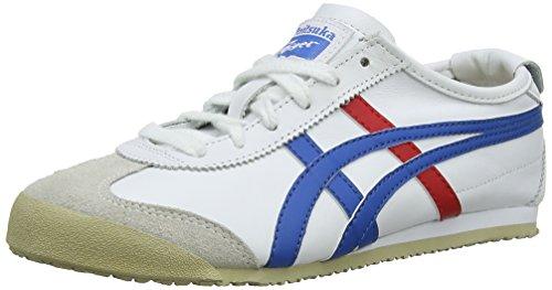 Onistuka Tiger Mexico 66 Unisex-Erwachsene Sneakers, Weiß (WHITE/BLUE 0146), 41.5 EU