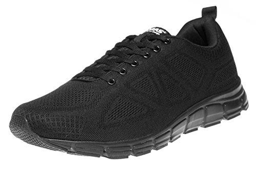 Boras Sneaker in Übergrößen Schwarz 5203-0001 große Herrenschuhe, Größe:50