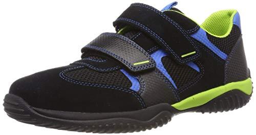 Superfit Jungen Storm Sneaker, Schwarz (Schwarz/Blau 00), 38 EU