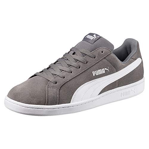 PUMA Smash SD Sneaker Quiet Shade-Puma White UK 9.5_Adults_FR 44