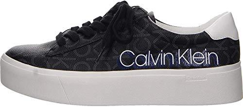 Calvin Klein Damen Janika- Low Top Lace Up Sneaker Größe 38 EU Schwarz (schwarz)