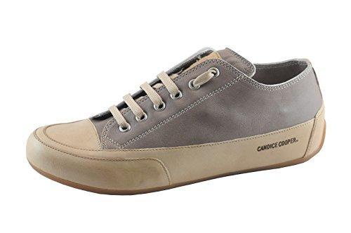 Candice Cooper Rock 01 Tortora (Taupe) Tamponato (Kalbleder) Base beige Damen Sneaker Größe 39