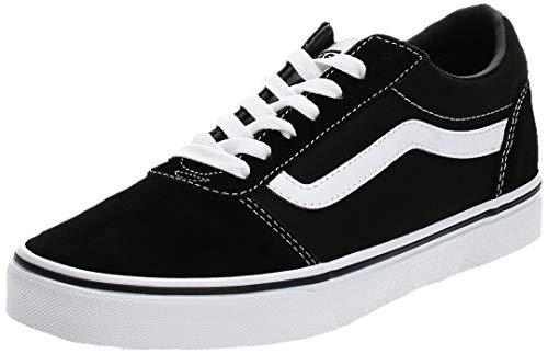 Vans Herren Ward Suede/Canvas Sneaker, Schwarz ((Suede/Canvas- Black/White), 46 EU