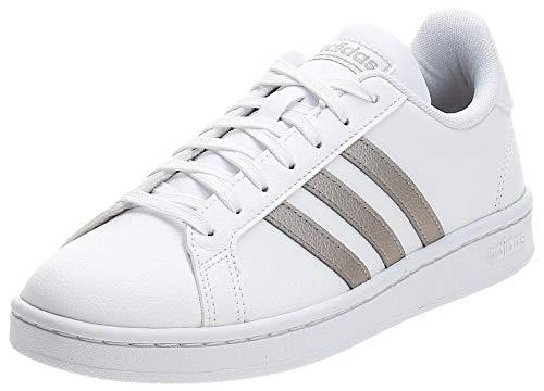 Adidas GRAND COURT, Damen Hallenschuhe, Mehrfarbig (Ftwbla/Metpla/Ftwbla 000), 39 1/3 EU (6 UK)