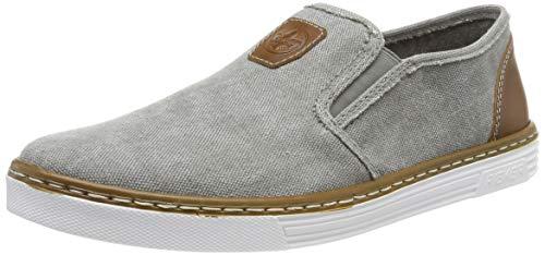 Rieker Herren B4962-41 Slip On Sneaker, Grau (Grey/Amaretto 41), 44 EU
