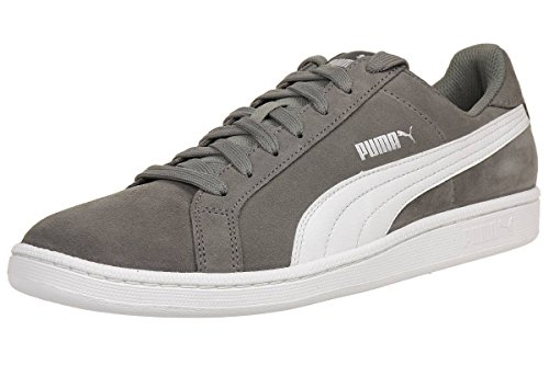 PUMA Smash SD Sneaker Quiet Shade-Puma White UK 9.5_Adults_FR 44