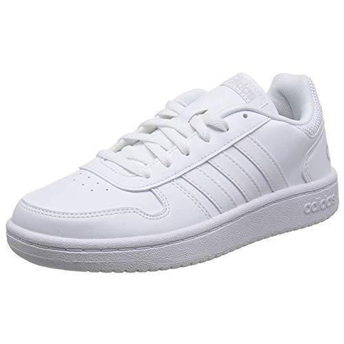 adidas Damen Hoops 2.0 Fitnessschuhe, Weiß (Ftwbla/Ftwbla/Ftwbla 000), 39 1/3 EU