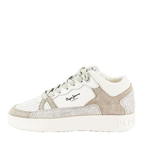Pepe Jeans London Damen Brixton Jump Sneaker, 800WHITE, 39 EU