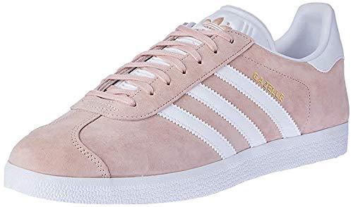 adidas Unisex-Erwachsene Gazelle Sneaker, Rosa (Vapour Pink/White/Gold Met), 42