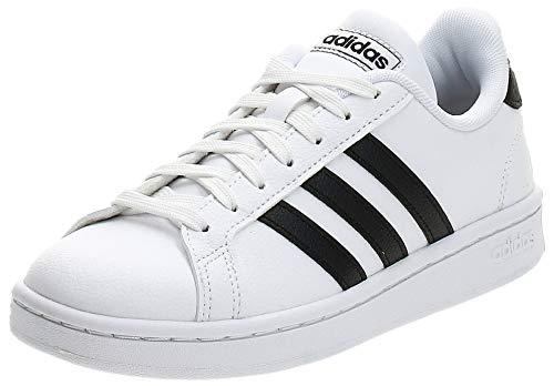 Adidas Grand Court, Damen Hallenschuhe, Weiß (Ftwbla/Negbás/Ftwbla 000), 41 1/3 EU (7.5 UK)
