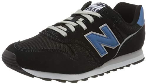 New Balance Uomo 373v2 Sneaker, Schwarz (Black/Blue Ab2), 46.5 EU