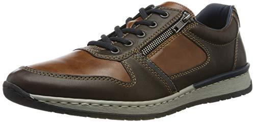 Rieker Herren B5124-25 Sneaker, Braun (Kastanie/Peanut/Ozean 25), 41 EU