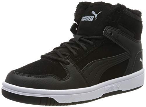PUMA Unisex-Kinder Rebound Layup Fur SD Jr Sneaker, Black White, 35.5 EU