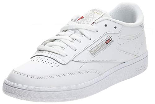 Reebok Club C 85, Deman Niedrig, Elfenbein (White/light Grey), 37.5 EU