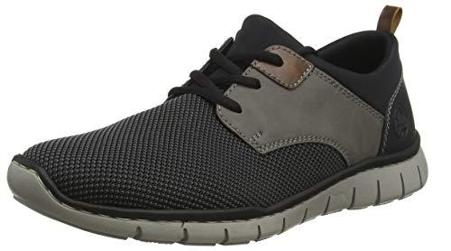 Rieker Herren B8764-43 Sneaker, Grau (Grau-Schwarz/Polvere/Mogano/Schwarz/Schwarz 43), 43 EU