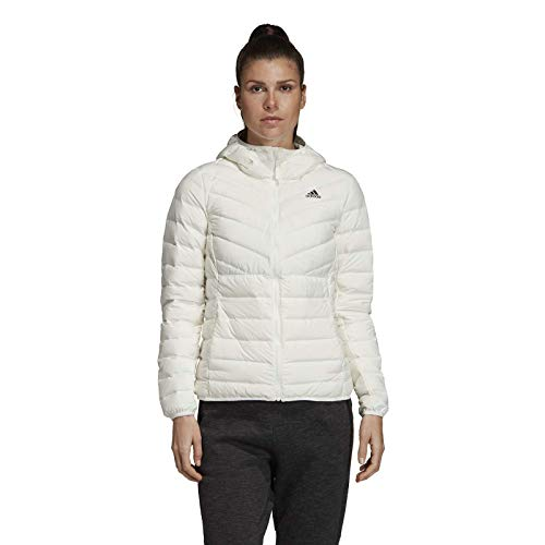 adidas Originals Damen Varilite 3-Streifen Soft Hooded Daunenjacke Weiß M