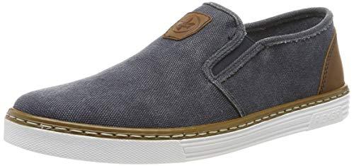 Rieker Herren B4962-14 Slip On Sneaker, Blau (Navy/Nuss 14), 45 EU