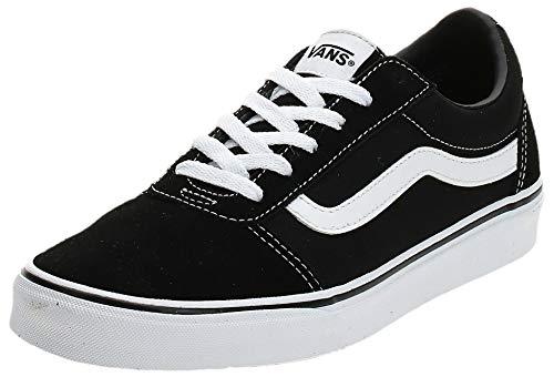 Vans Damen Ward Suede/Canvas Sneaker, Schwarz ((Suede/Canvas) Black/White Iju), 41 EU