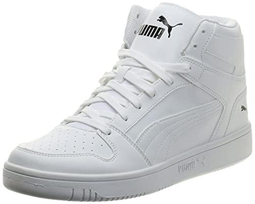 PUMA Unisex Rebound LayUp SL Sneaker, White Black 03, 45 EU