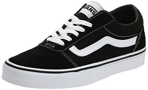 Vans Herren Ward Suede/Canvas Sneaker, Schwarz ((Suede/Canvas- Black/White), 47 EU