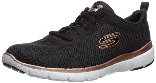 Skechers Damen Flex Appeal 3.0-First Insight Sneaker, Schwarz Rotgold, 39 EU