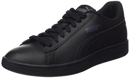 PUMA Unisex Adult Smash v2 L Sneaker, Black Black, 45 EU