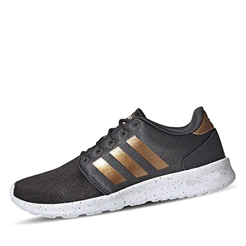 adidas Damen QT Racer Sneaker, Grey/Tactile Gold Metallic/Footwear White, 39 1/3 EU