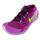 Nike Free 3.0 Flyknit Damen Laufschuhe, BLACK/FLASH LIME-RASPBERRY RED-FUCHSIA F, 36.5 EU