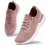Damen Walkingschuhe Turnschuhe Laufschuhe Sportschuhe Fitness Sneakers Trainers für Running Outdoor Schuhe Pink 38 EU