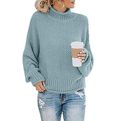 BOLANQ Damen Herbst Winter Cardigan Top,Women Lange ÄRmel Solid Color Casual Mantel Pullover Coat Strickjacke Tops